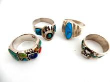 Zuni / South Western Sterling Turquoise Rings