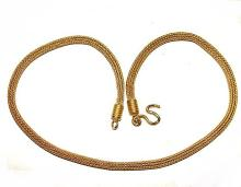 Gold Thai Mesh Foxtail Chain Necklace