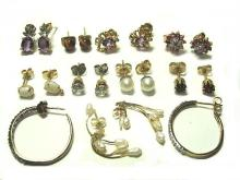 Collection Of 14kt. Gold And Gemstone Earring's