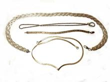 Four Vintage Sterling 925 Necklaces Made In Italy