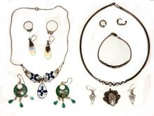 Collection Of Sterling Ladies Jewelry