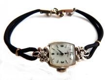 Lady Hamilton 14K Gold & Diamonds Wrist Watch