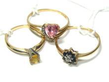 Gold Gemstone Birth Rings 2-10kt. & 14kt. Gold