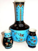 Cloisonn? And Enameled Decorated Vases