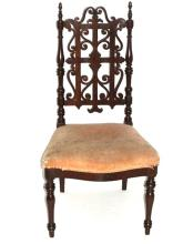 Rare Victorian Pierced Carved Childs Chair