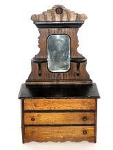 Vic't Child's Or Salesman Sample Oak Dresser