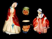 Royal Doulton Figurines And Toby Mugs