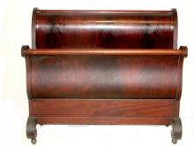 Flame Mahogany Full Size Sleigh Bed