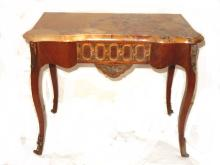 French Style Marble Top Accent Hall Table