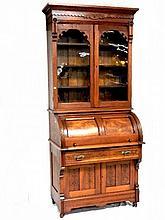 Victorian Burled Walnut Cylinder Desk Ca. 1860's