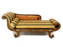 18th. C. Regency Gilded Decorated Recamier