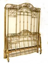 Geat Style Brass Bed Full Size Ca. Late 19th. C.