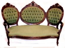 Carved Victorian Renaissance 5 Piece Parlor Set