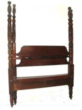 Empire Mahogany Acanthus Carved Poster Bed