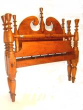 Early Country Tiger Maple Four Poster Rope Bed