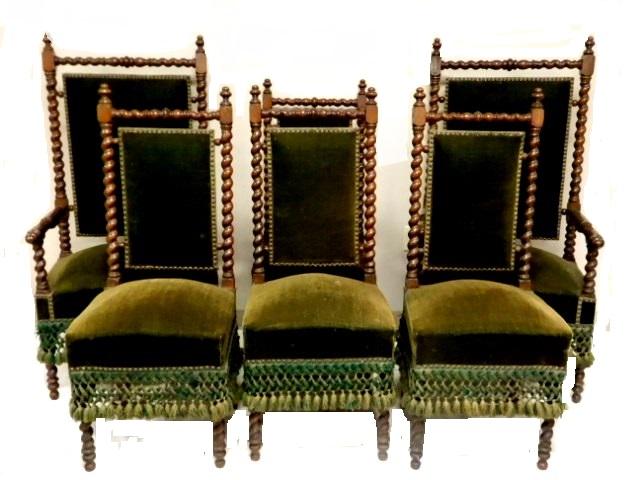 Scottish Walnut Barley Twist Dining Chairs