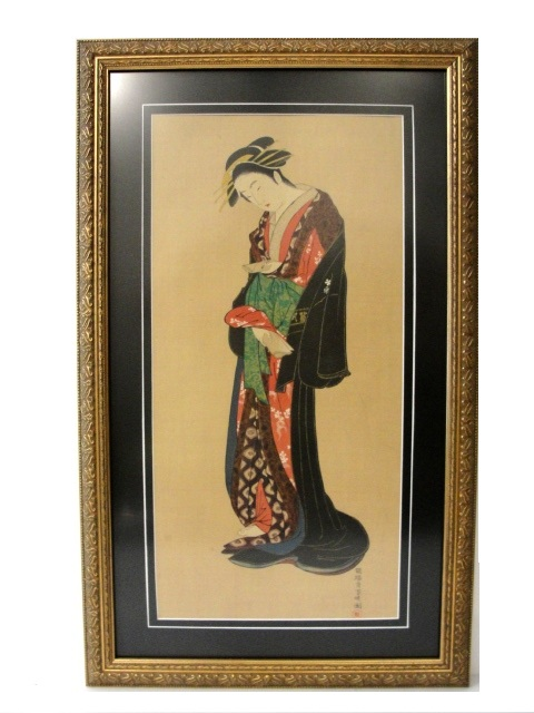 Miyagawa Choshun (1682-1752) Woodblock Print