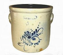 Ottoman Bros. Edwards NY. Decorated Crock