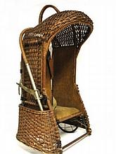 The Withrow Oriole Wicker Baby Carrier Go-Cart