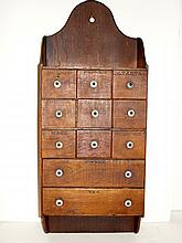 Early 12 Drawer Spice Cabinet Late 19th. C.