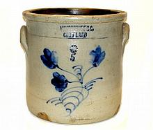 M.Woodruff Courtland & Co. Decorated Crock
