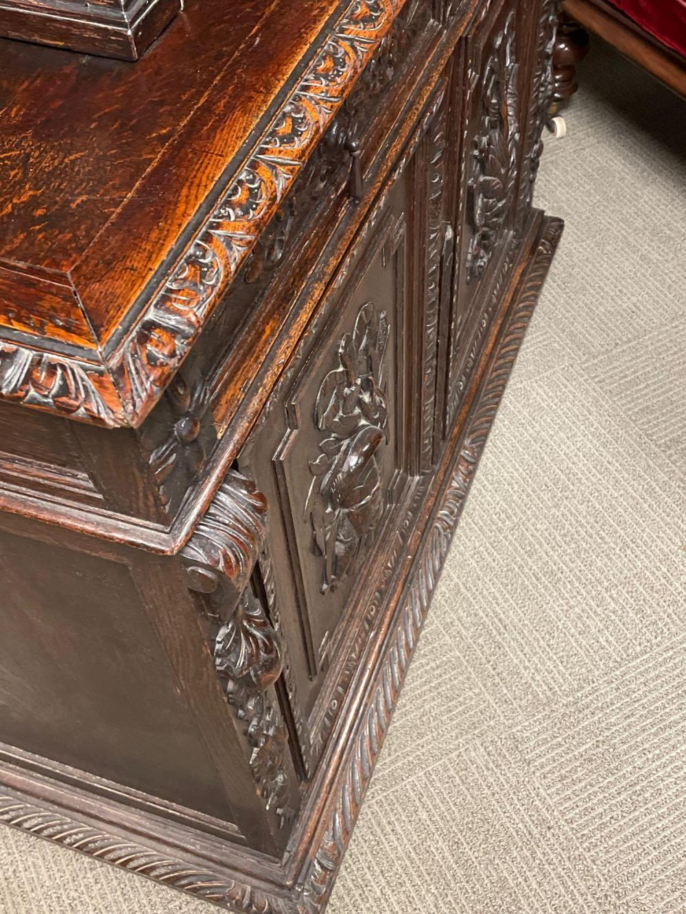 19th C. Highly Black Forest Huntboard / Sideboard