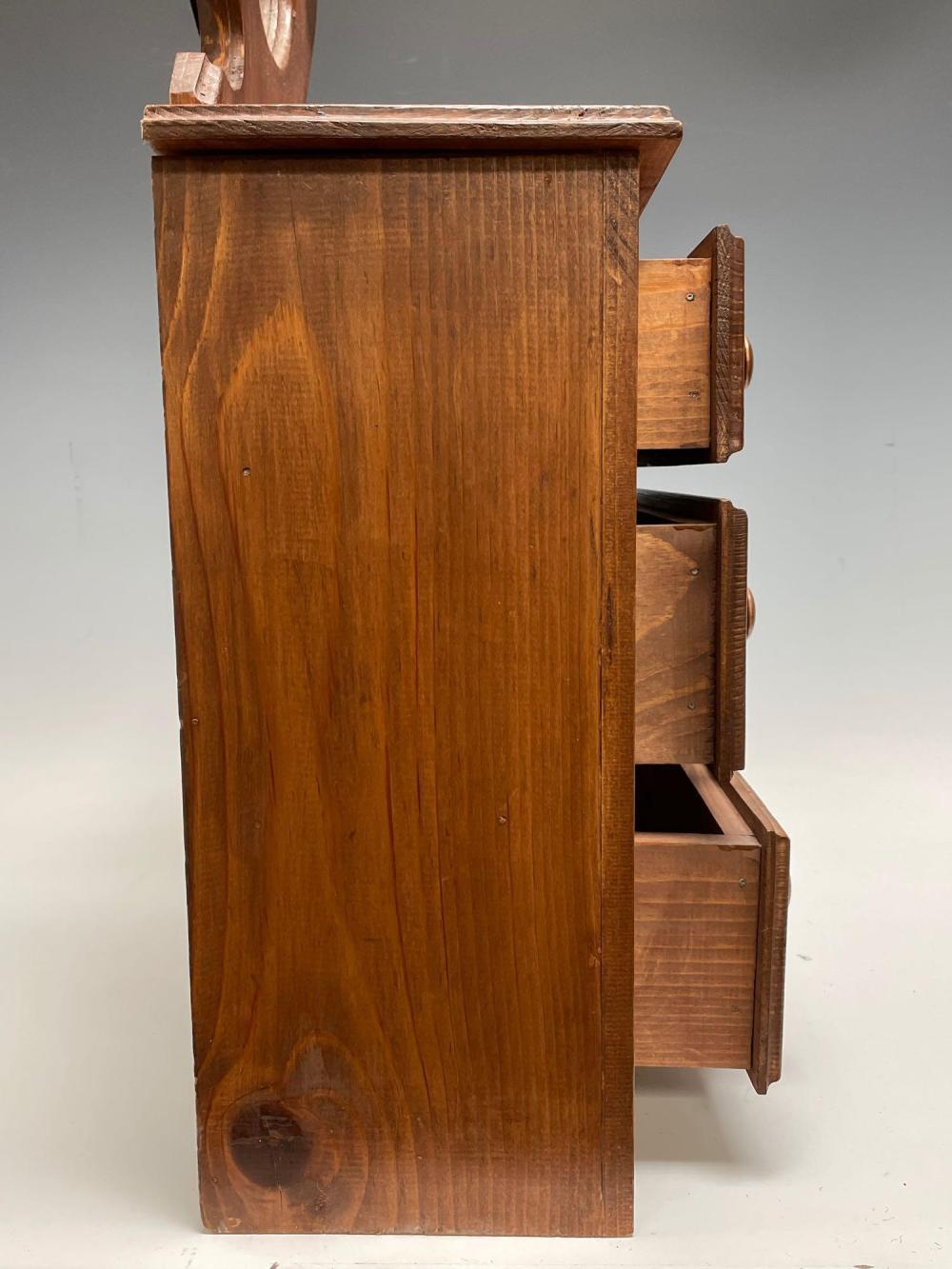 Miniature 20th c. Custom Rendering of Victorian Dresser