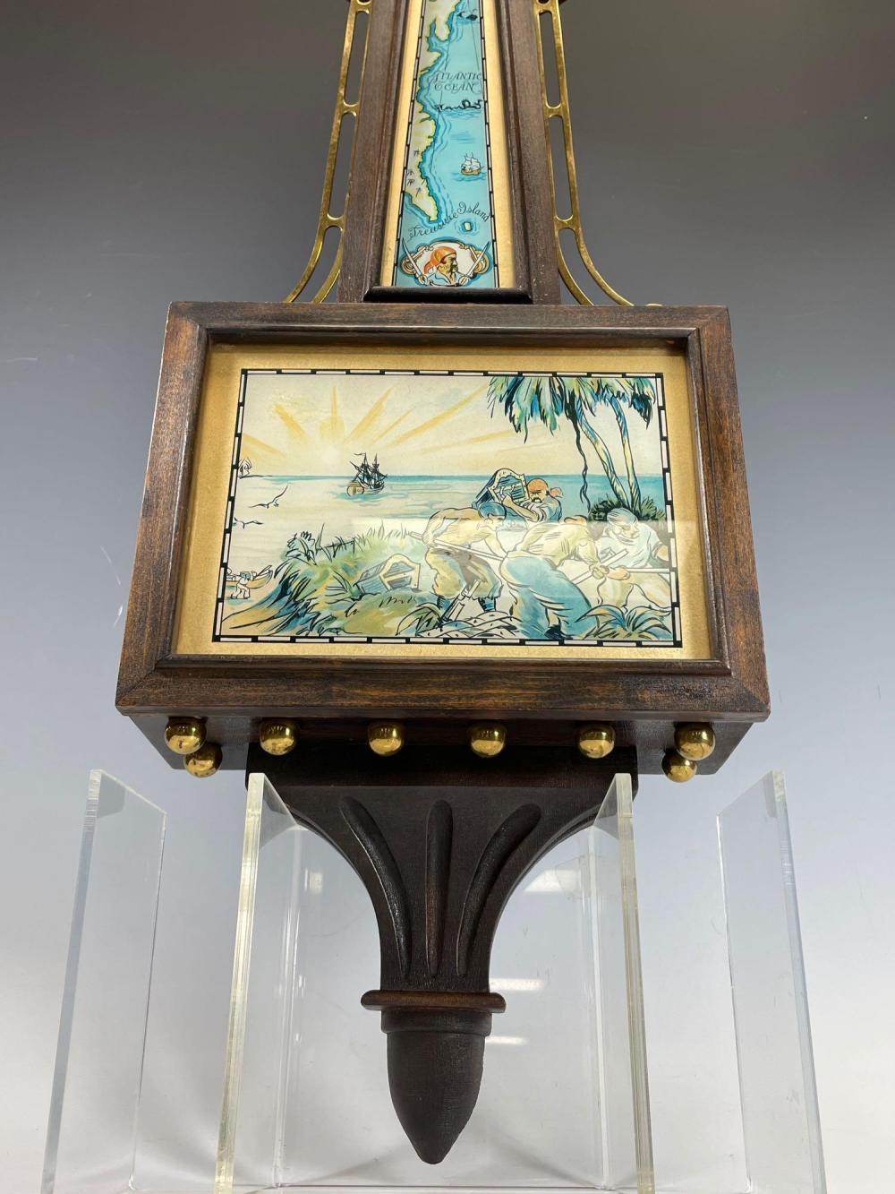 TREASURE ISLAND CLOCK - Banjo Clock by E. Ingraham Co