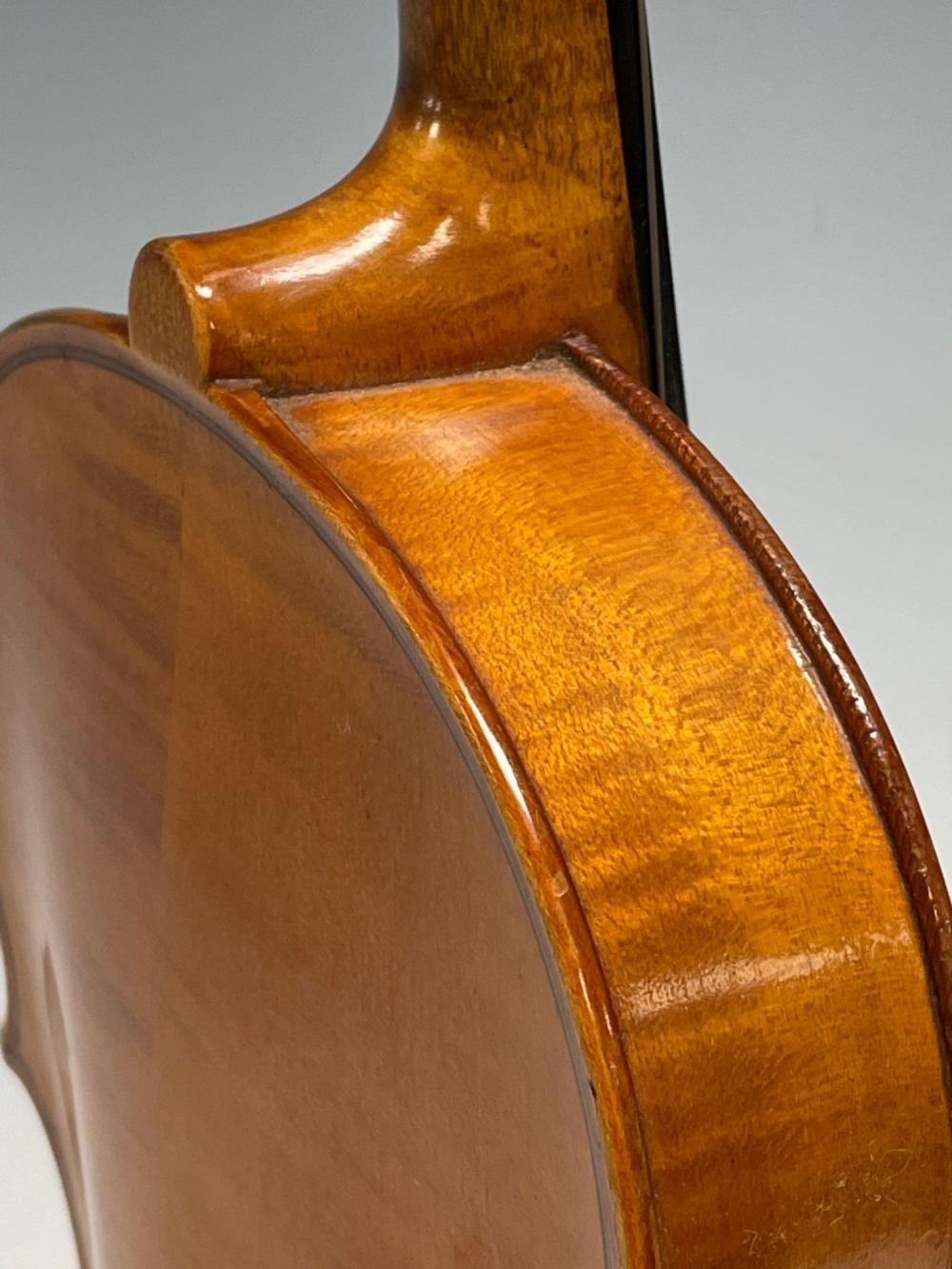 1920 LION and HEALY Tiger Maple Violin Style #1027 w Bow