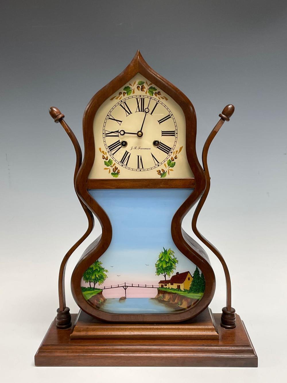 J C Brown Style Acorn Shelf Clock by J.R. Freeman