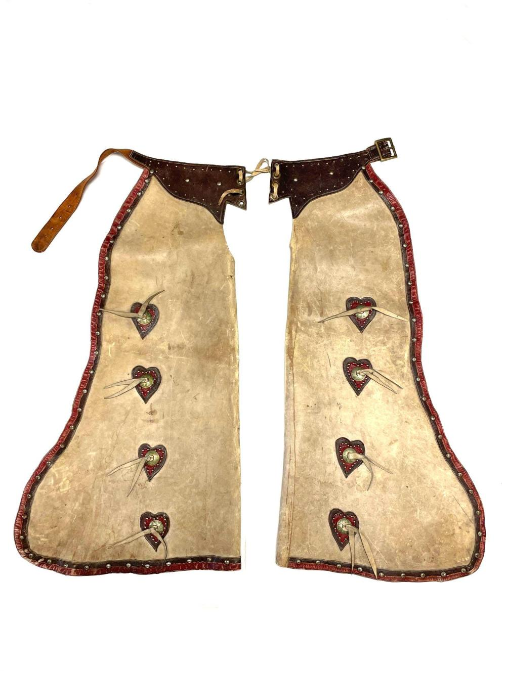 Early 20th c. Western Cowboy Leather Chaps