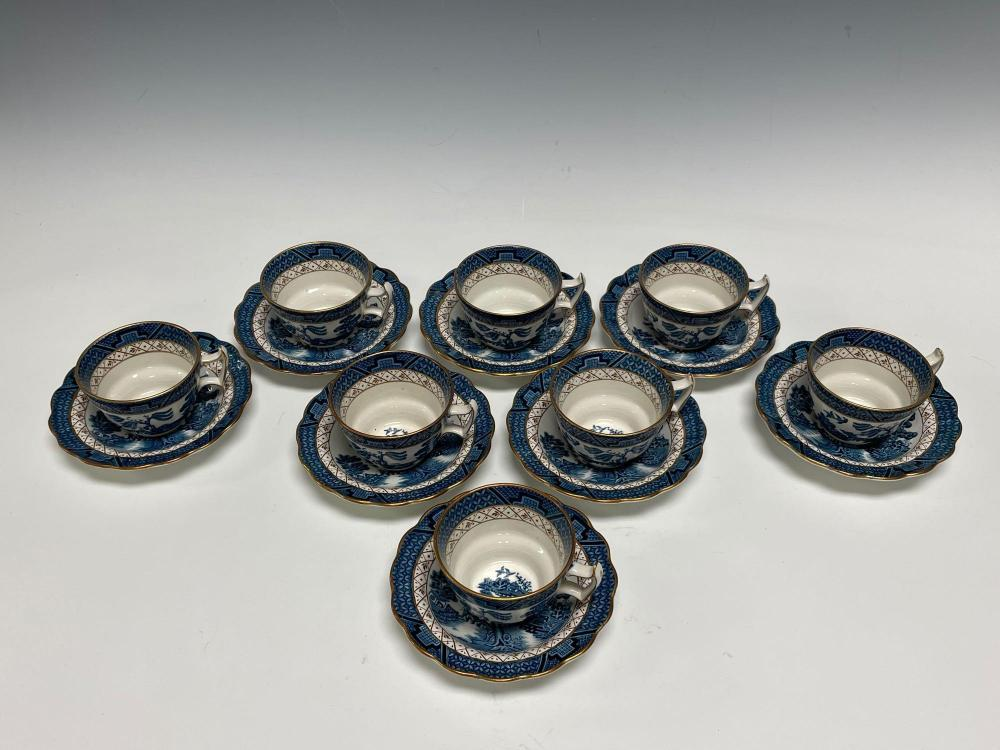 REAL OLD WILLOW Service for Eight (8) Booths Ironstone Set