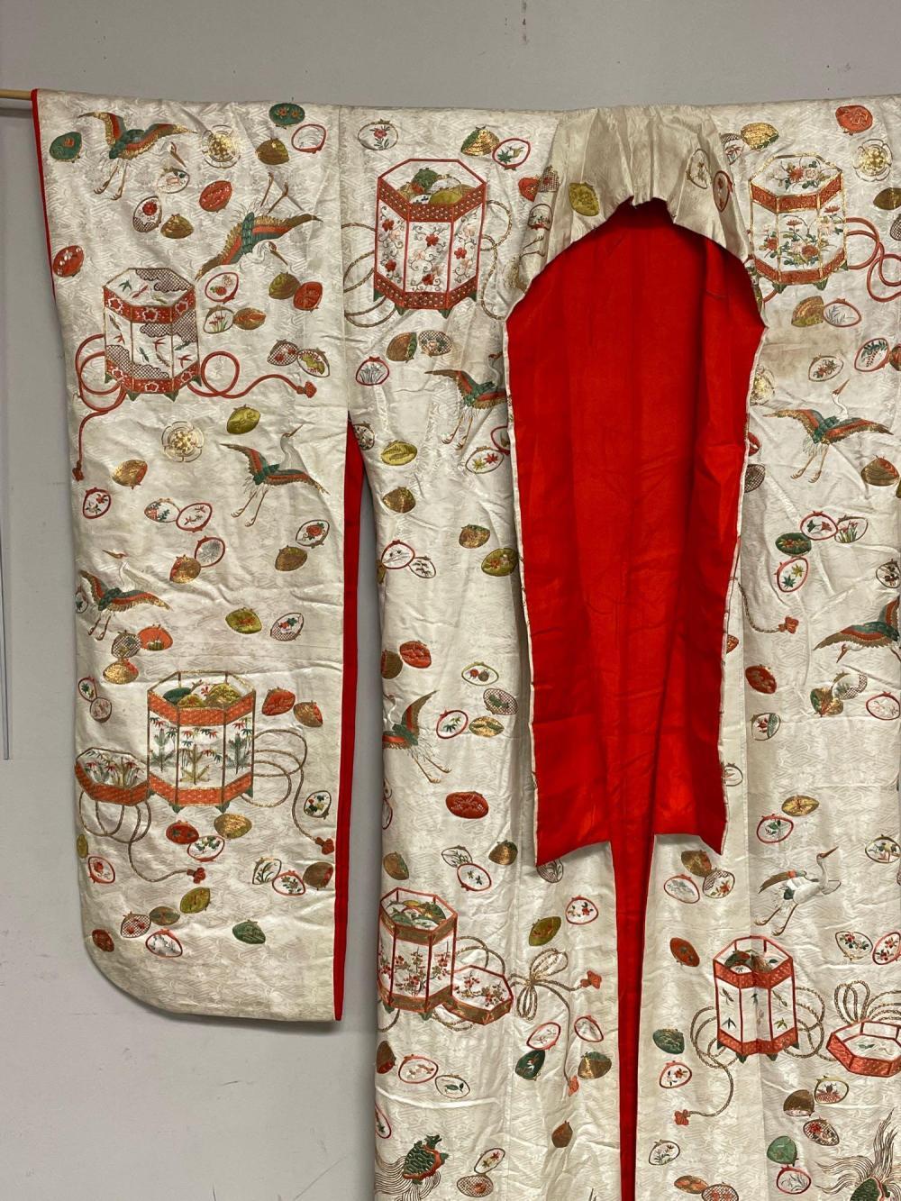 20th Century Gold Threaded Dress Uchikake Kimono Gown