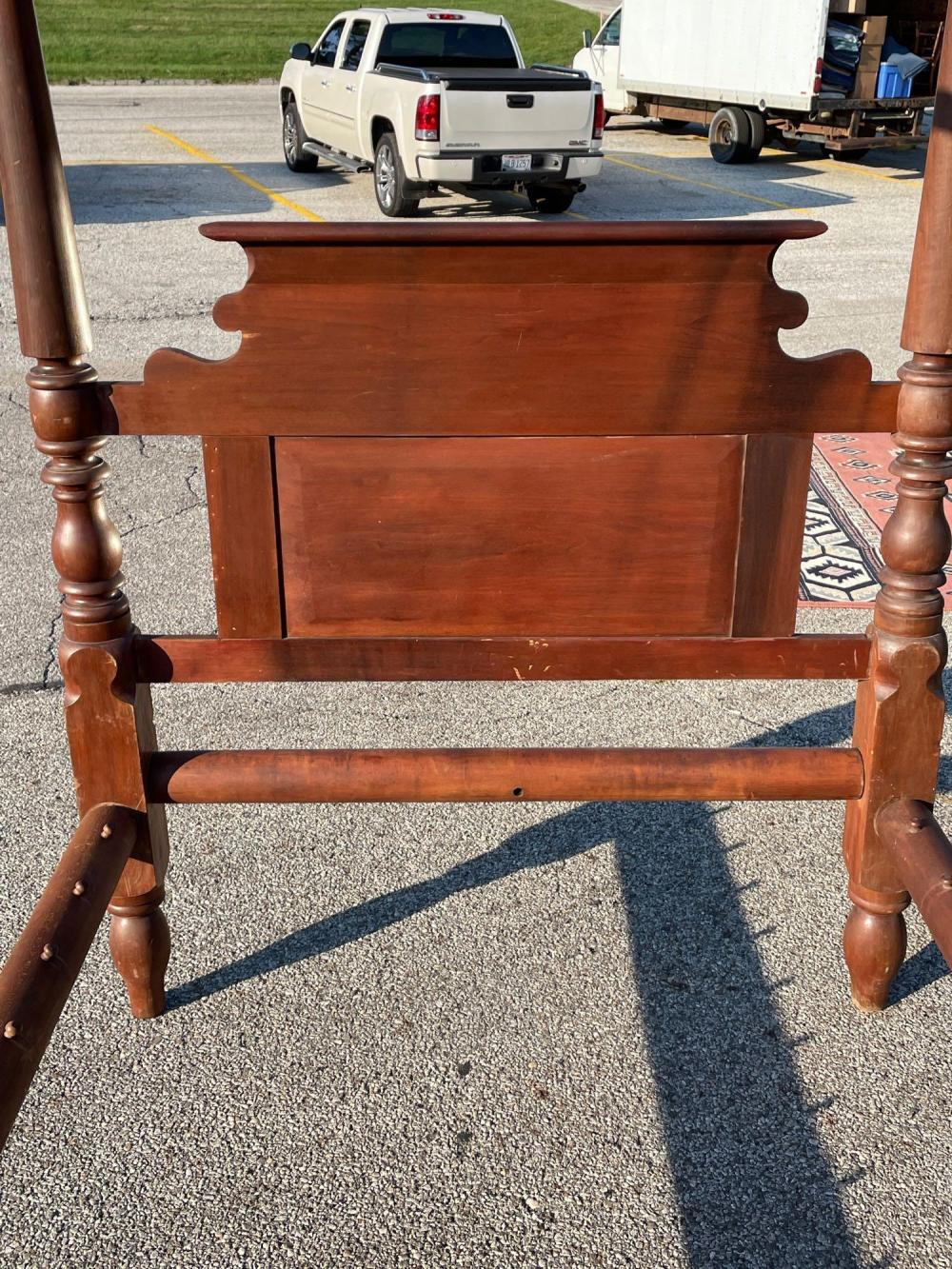 Early Empire Cherry Canopy Rope Bed