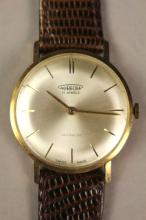 Aureole Men's 14k Gold Incabolic Wrist Watch