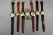 Collection of Seven Vintage Men's Wrist Watches