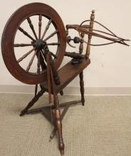 19th Century Threadle Spinning Wheel