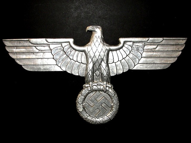 Rare WW II Nazi RR Plaque With Markings 24''