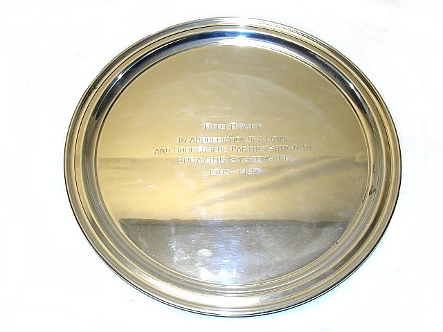Tiffany & Co. Makers Sterling Tray 25.60 Troy Oz.