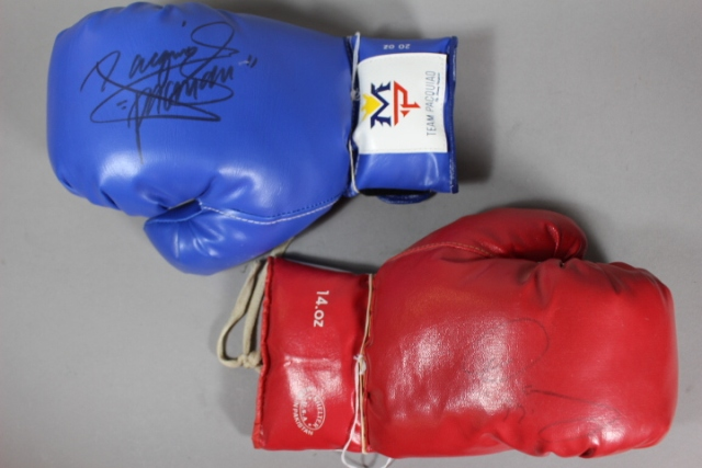 Oscar De La Hoya Manny Pacquiao Signed Gloves 551 C C764434ac4 on oscar de la hoya in paintings