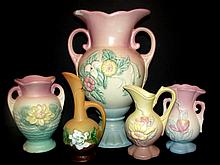 Collection Of Five Hull And Roseville Pottery