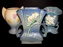Roseville, Hull & Weller Pottery Vase's