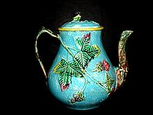 Antique English Majolica Blackberry Pitcher