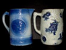 Two Stoneware Milk Pitchers