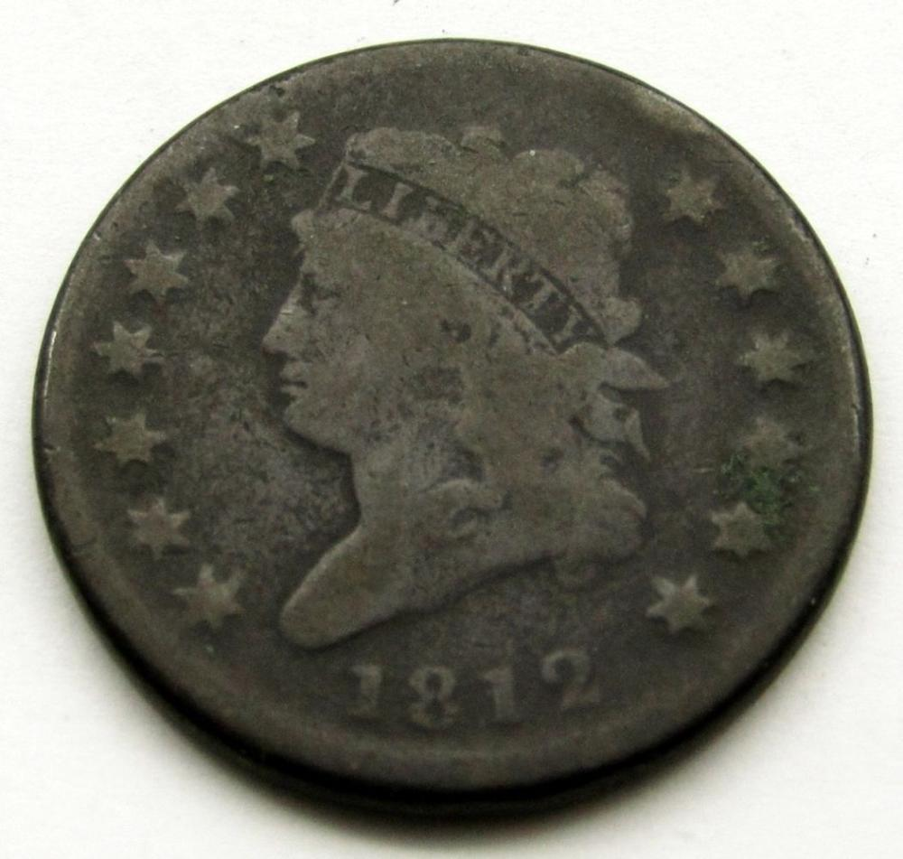1812 CLASSIC HEAD LARGE CENT VG