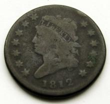 Lot 4: 1812 CLASSIC HEAD LARGE CENT VG