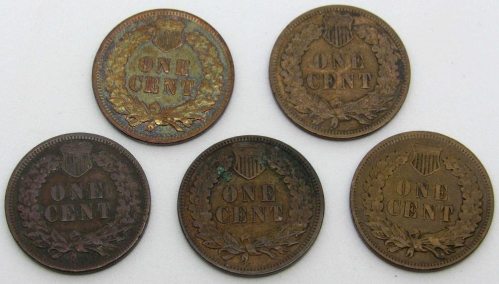 Lot 9: 1887, 1898, 1904, 1906, 1907