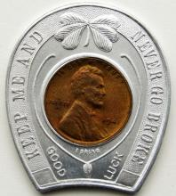 "Lot 8: 1941 LUCKY PENNY ""DRINK DUQUESNE PILSENER"""