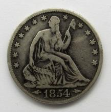 Lot 38: 1854-O ARROWS SEATED HALF DOLLAR