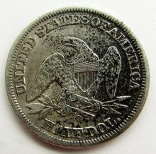 Lot 39: 1856-O SEATED HALF DOLLAR VF